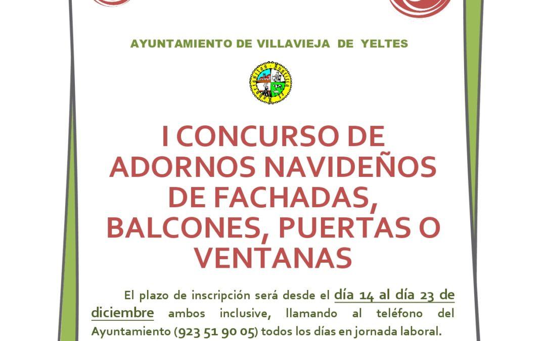 I CONCURSO DE ADORNOS NAVIDEÑOS DE FACHADAS, BALCONES, PUERTAS O VENTANAS